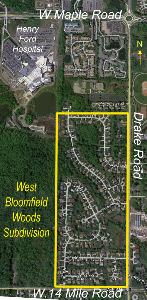 west bloomfied woods map